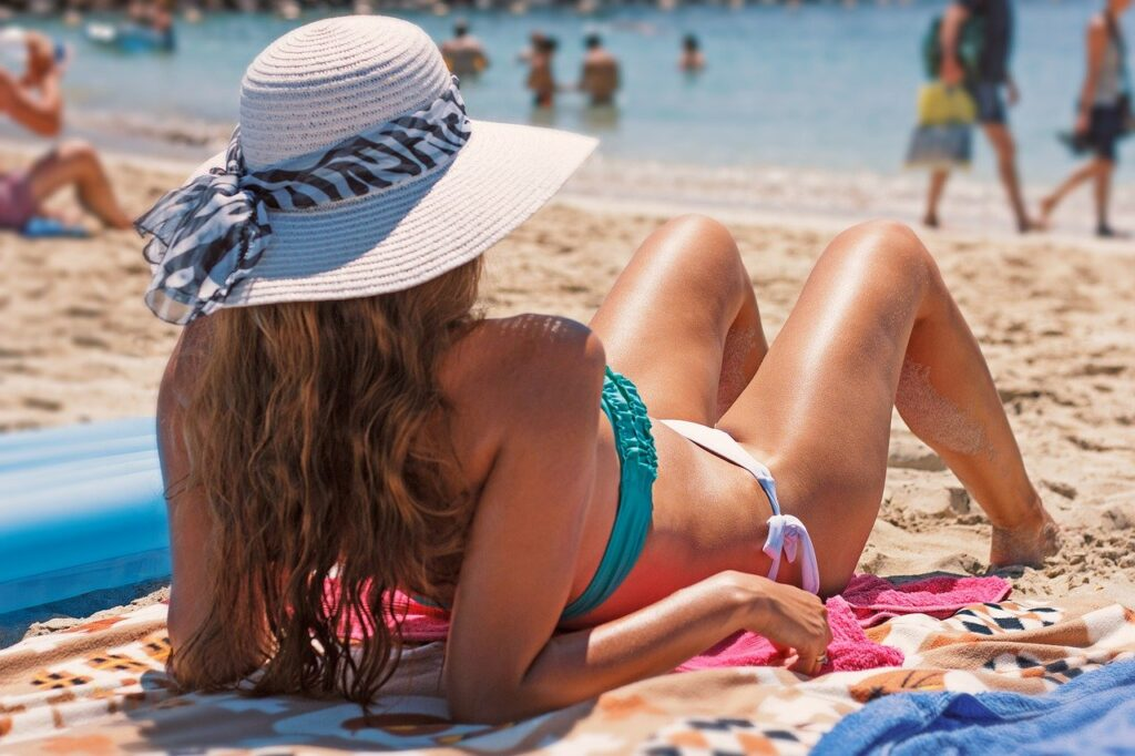 bikini, exposure to the sun, beach - 25 Best Self Tanners For Face and Body